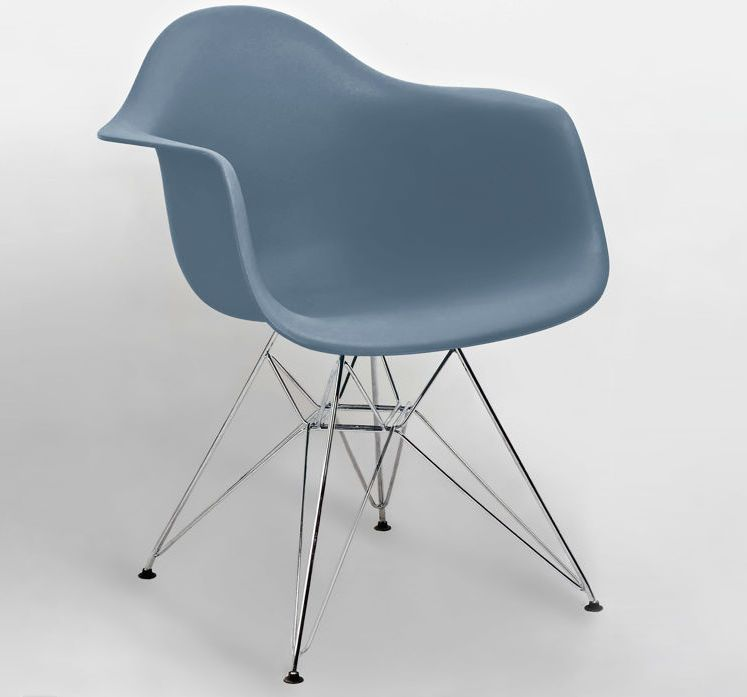 Steel blue eames moulded wire frame dining armchair from danetti eames dining armchair wire frame base uk delivery greentooth Gallery
