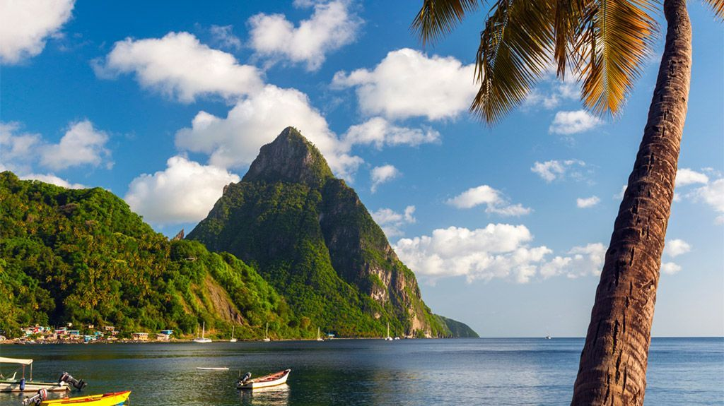 One of the Windward Islands in the Caribbean Sea, St