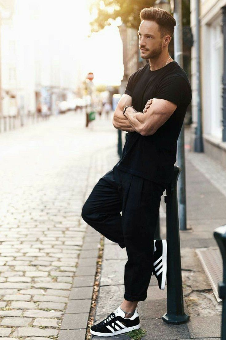 superb all black male outfits models