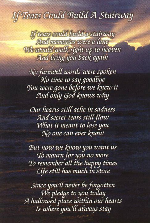 Poems To Say Goodbye At A Funeral 6
