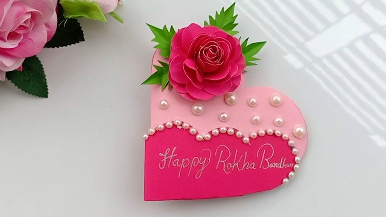 paper rakhi card craft idea  raksha bandhan 2019