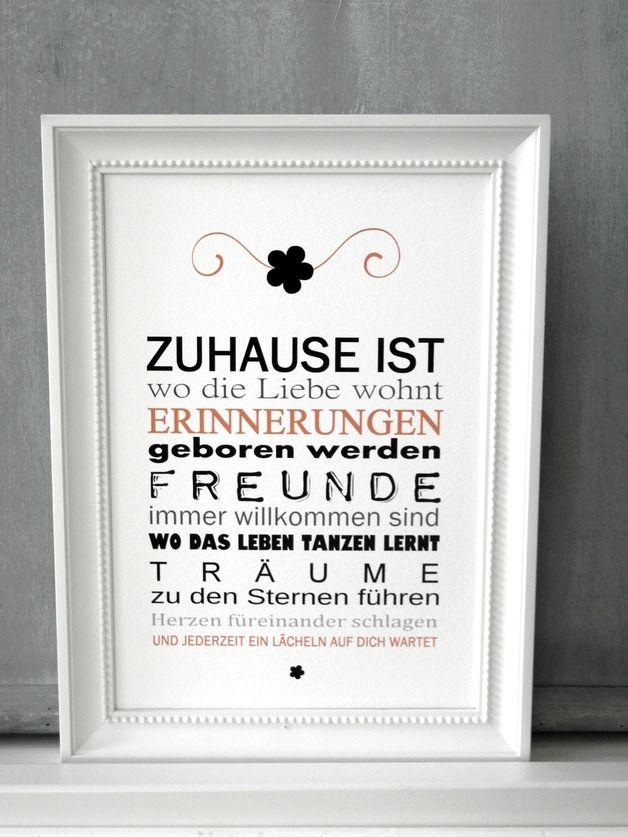 Originaldruck Fine Art Druck Zuhause Ist Kunstdruck