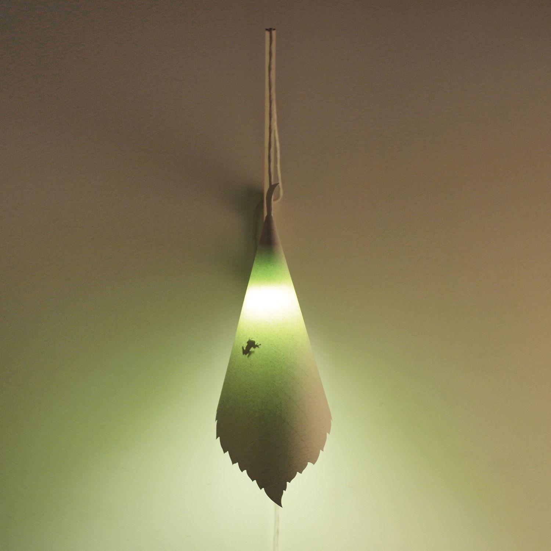 Suspension Papier Blanc Vert H 58cm ORME