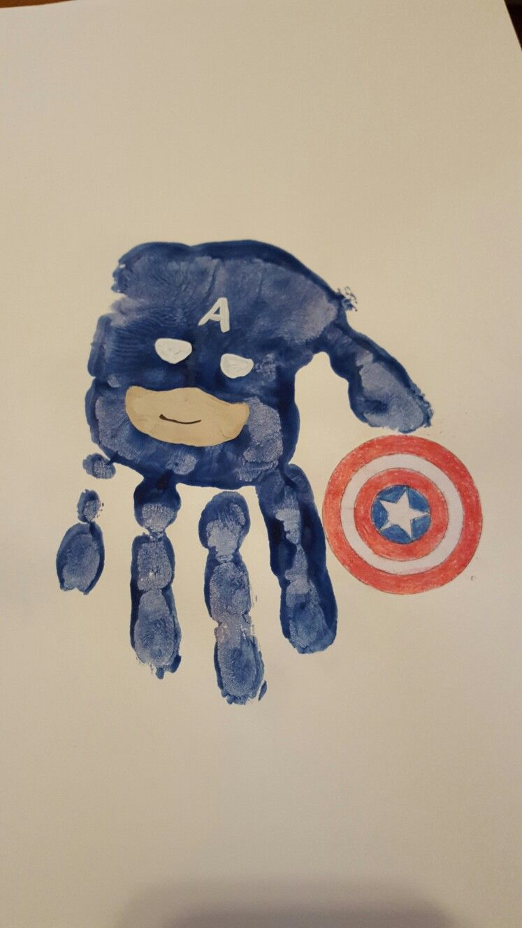 superhreo  captain america handprint