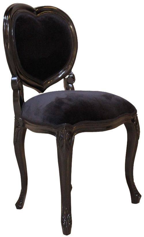 French Noir Black Painted Heart Chair  My Home ideas