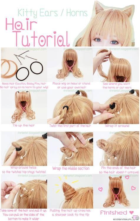 Hair Middot How To Make Little Horns Kawaii Hairstyles Hair Styles Crazy Hair