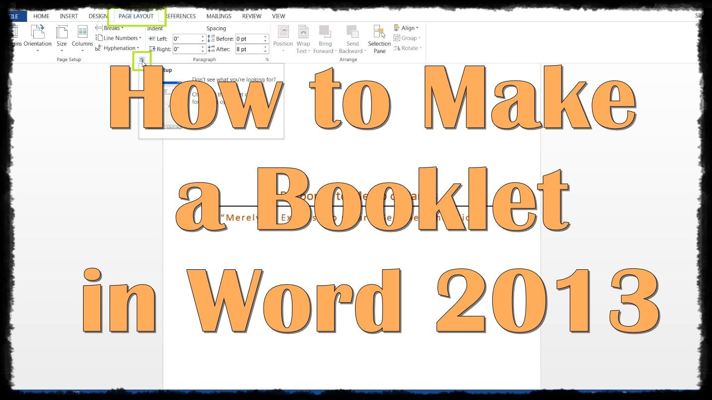 How to Make a Booklet in Word 2013 (With images) Free