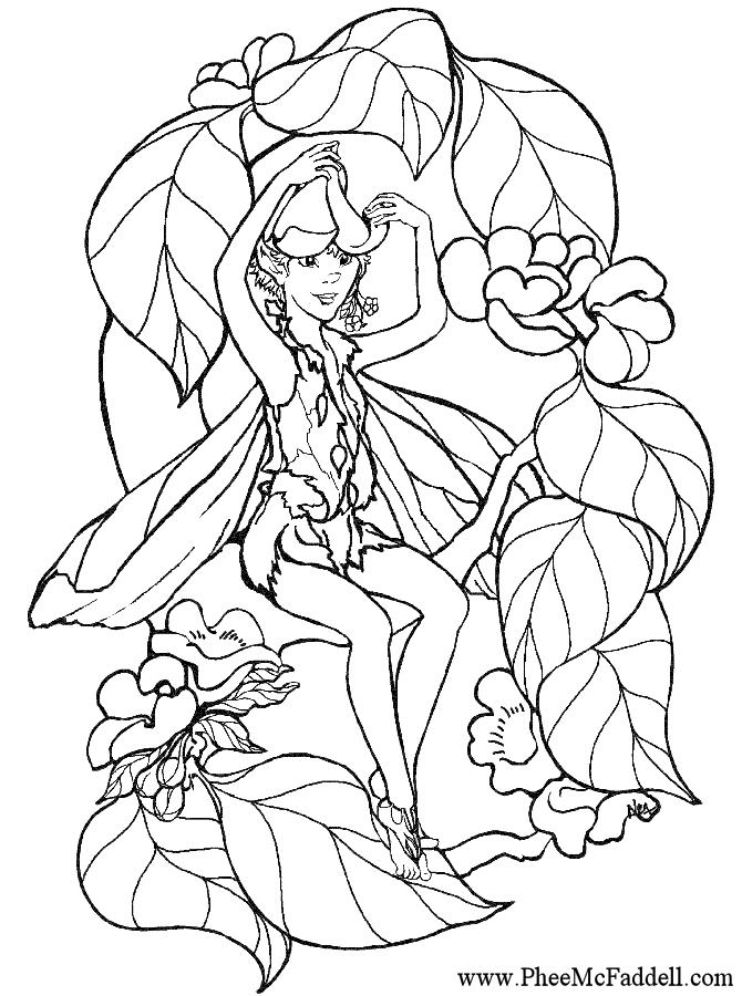 kleurplaten elfjes en feeen