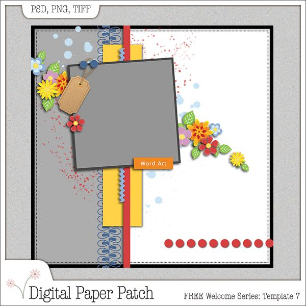 free digital scrapbooking template from the digital paper patch