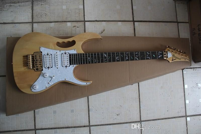 The Original Wood Color 7 V V Double Wave Electric Guitar In High