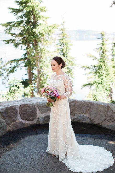 Crater Lake Oregon Wedding Photos: Alan + Jacy #craterlakeoregon