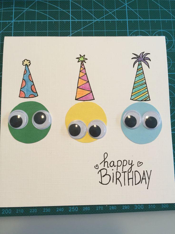 Photo of Eine Geburtstagskarte. Augen. Formelle Hüte. – Kinder basteln – #Augen #Basteln…