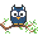 Night Owl Pixel Art Hibou Pixel Art Minecraft Et Motifs