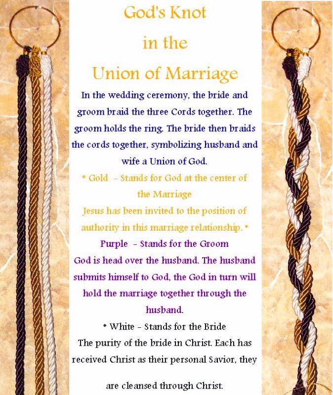 S Knot Ceremony Ecclesiastes I Would Change The Way Cords Are Explained But Like Idea