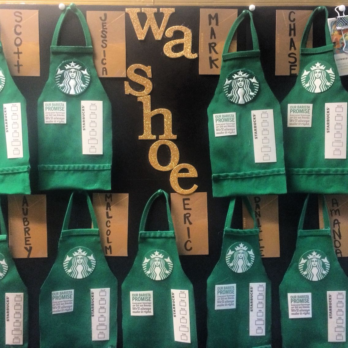 Starbucks Green A Board