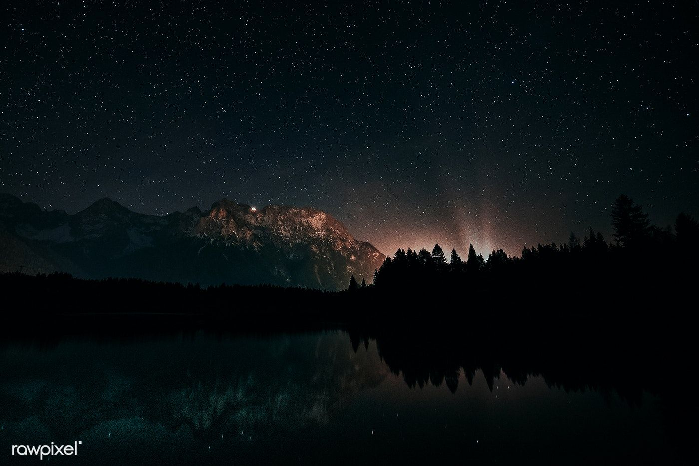 Starry Sky Above Lake Antholz Free Image By Rawpixel Com Eberhard Grossgasteiger Hd Wallpapers For Laptop Night Landscape Photography Laptop Wallpaper Wallpaper night starry sky lake trees