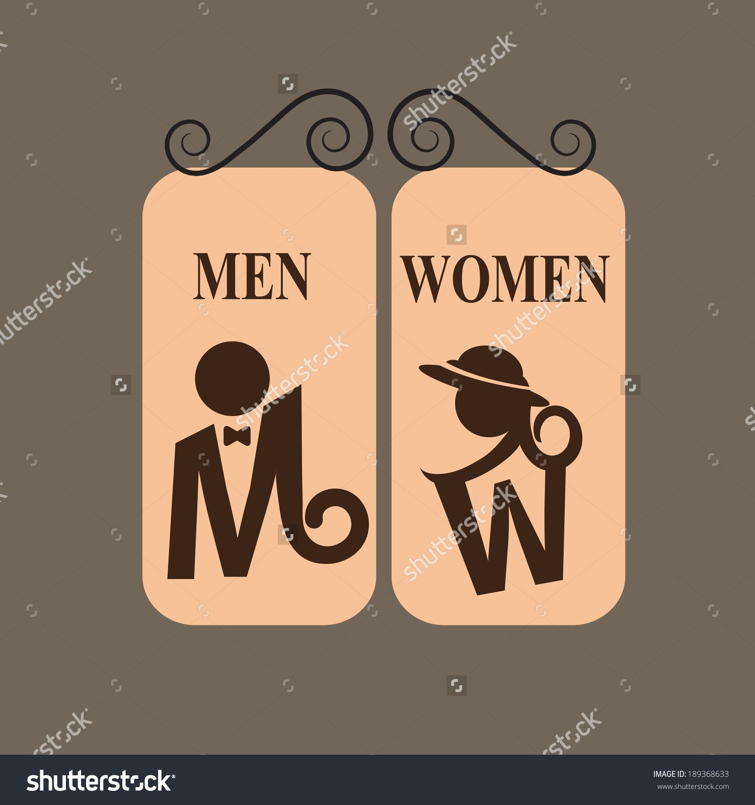 Bathroom Signs Video stock-vector-toilet-sign-189368633 (1500×1600) | toilets signs