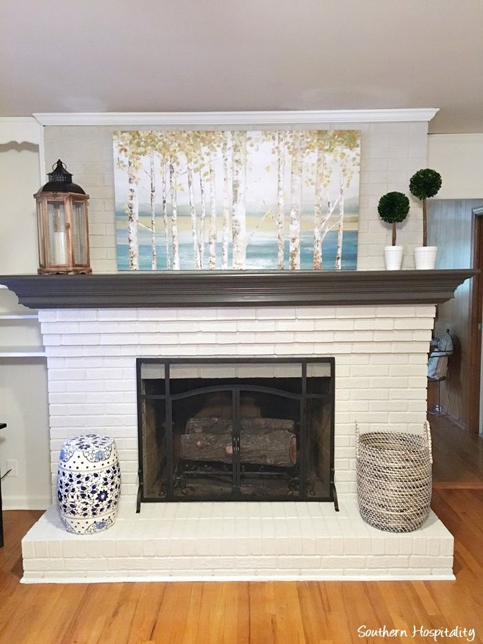 How To Update An Old Red Brick Fireplace Souther Hospitality Blog