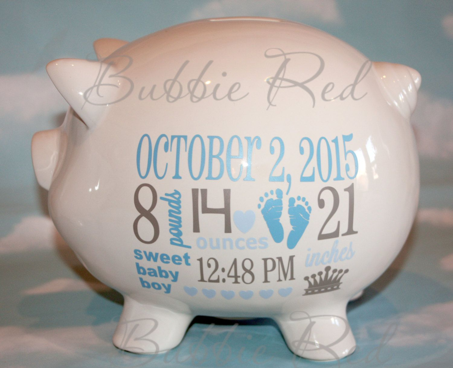 Personalized piggy bank baby boy piggy bank baby birth stats personalized piggy bank baby boy piggy bank baby birth stats gift baby boy negle Images