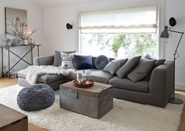 Inspiring Home Renovation Project With Diy Touches In Norway Living Room Grey Dark Grey Living Room Living Room Scandinavian