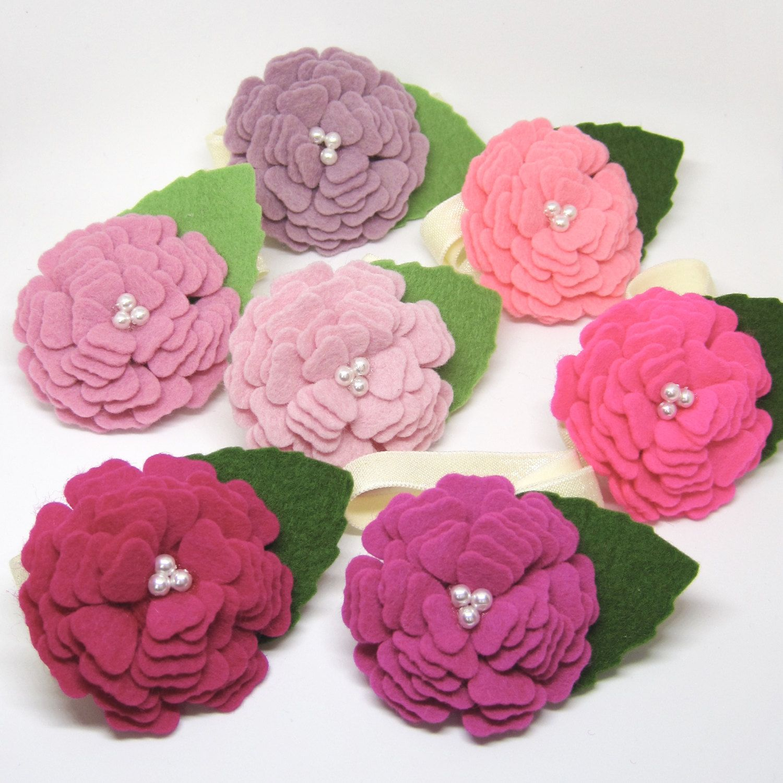 Felt blooming flower headband, baby girl headband, newborn ...
