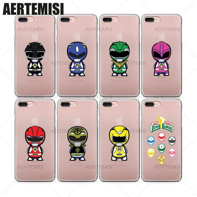 new product 94a39 3d851 Phone Cases Mighty Morphin Power Rangers Clear TPU Case Cover for ...