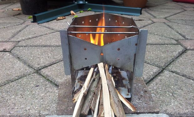 Collapsible Wood Burning Camp Stove On A Budget Wood