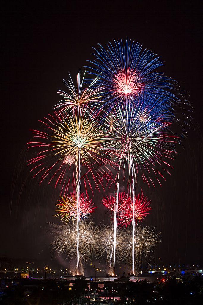 SunFest FIreworks Downtown west palm beach, Fireworks