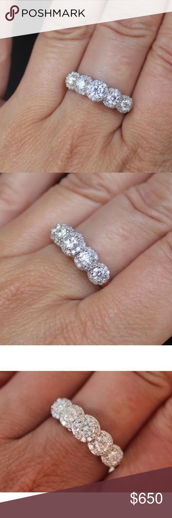 Beautiful k white gold carat diamond ring nwt my posh picks