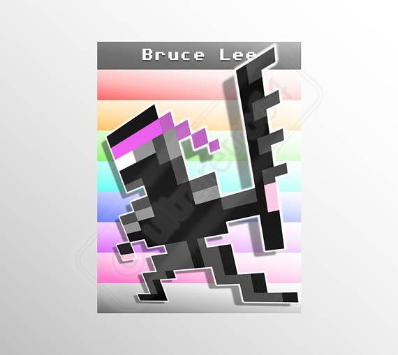 Printable Pixel Art Game Sprites Bruce Lee Ninja