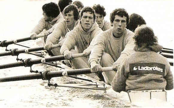 Does the guy in the middle look familiar? Hugh Laurie rowing