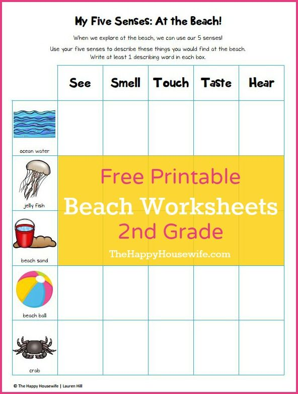 Free Printable Beach Worksheets