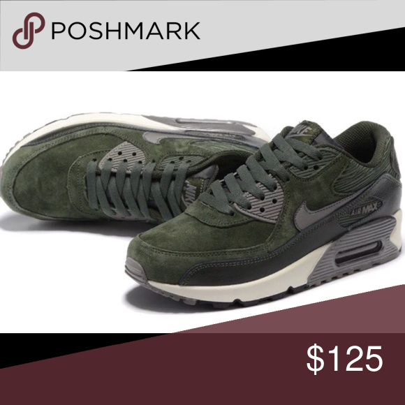 Nike Air Max 90 army green white men Running Shoes 537394 118