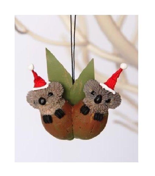 White Christmas Tree Decorations Australia: Twin Gumnut Baby Koalas Australian Christmas Tree Hanging
