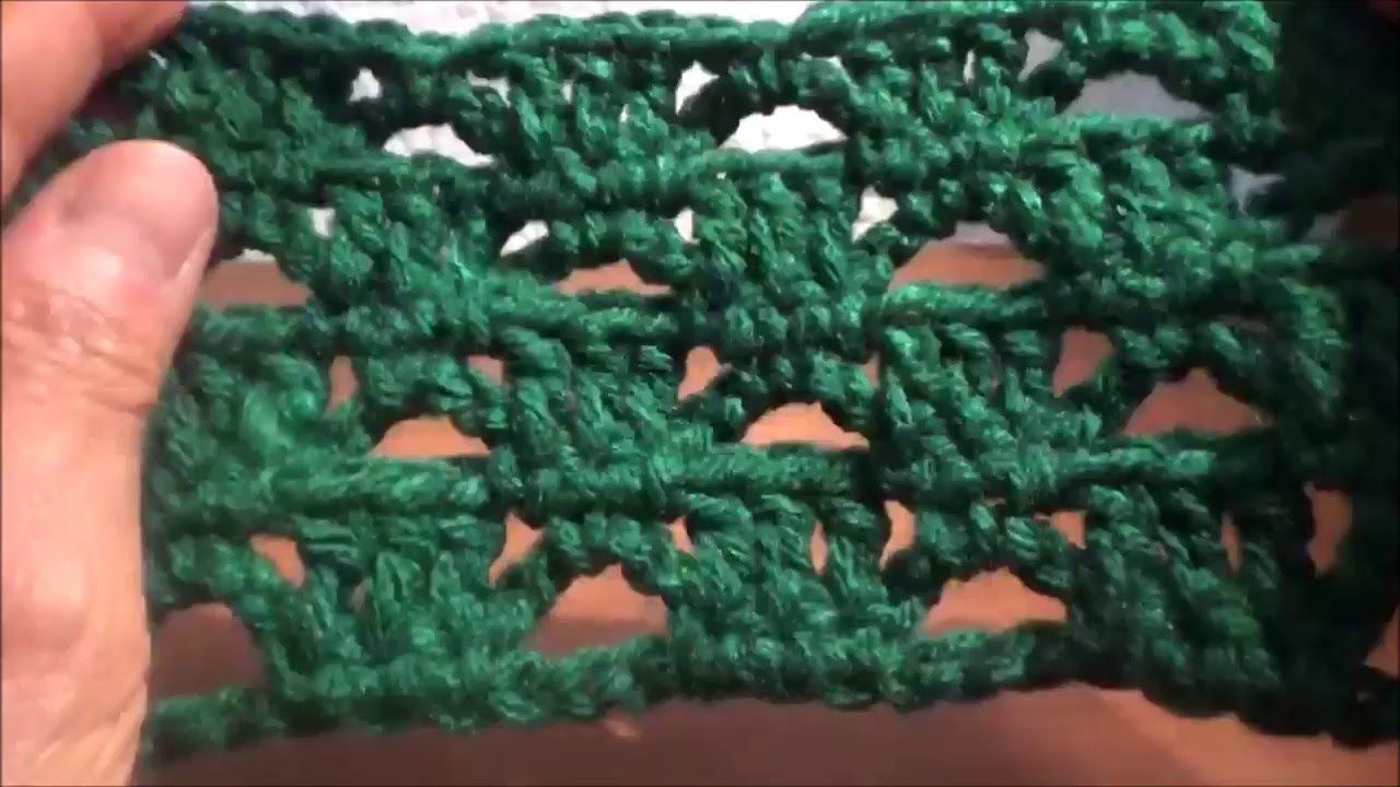 Puntada a crochet, sencilla, fácil, linda y rápida....