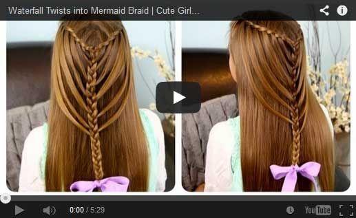 Waterfall Twist Into Mermaid Braid Steps Haircut Styles Hair Styles Easy Hairstyles For Long Hair Mermaid Braid