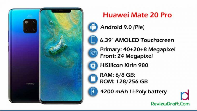 Huawei Mate 20 Pro Price In Bangladesh Specification Review Draft Huawei Mate Huawei Premium Smartphone