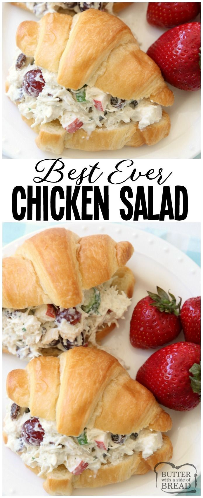 Easy 5-Minute Chicken Salad recipe that's the BEST I've ever tasted! The simple images