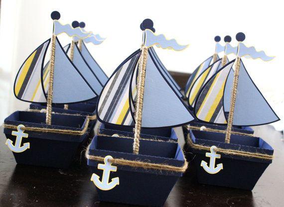 Barco   Favor Náutica   Caja De Regalo   Juego De 10. Nautical Party  FavorsNautical ...
