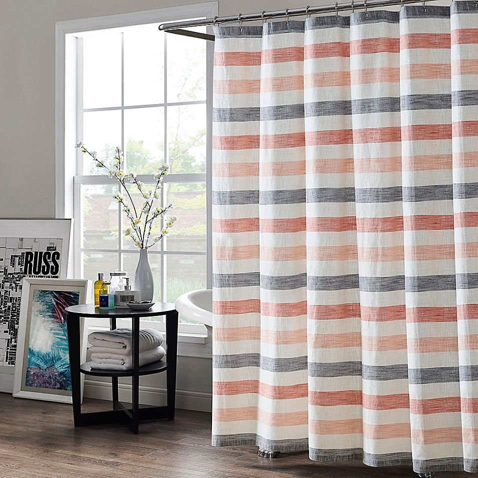 Kas Room Greta Striped 54 X 78 Shower Curtain In Blush In 2020