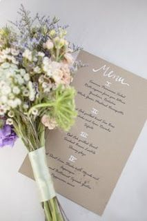 365 Days of Hand Lettering #wedding #menu #calligraphy