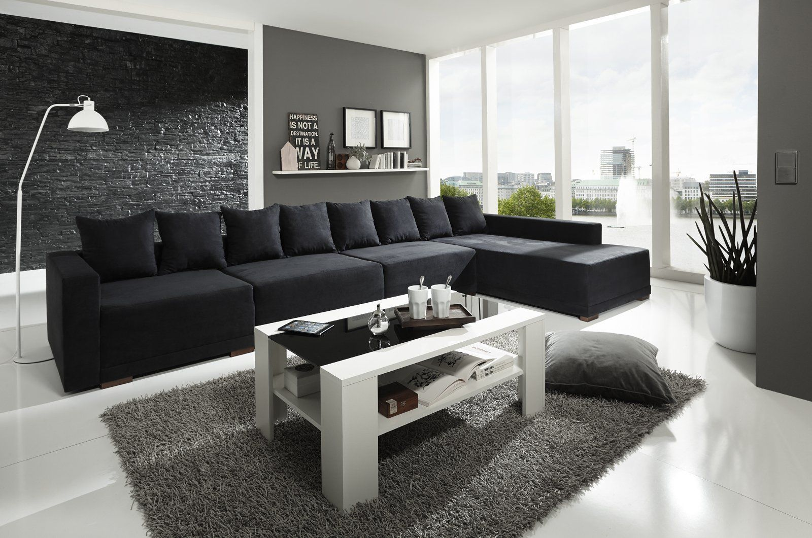 Wohnzimmer Einrichten Mit Schwarzer Couch Living Room Remodel Small Living Rooms Interior Decorating Living Room