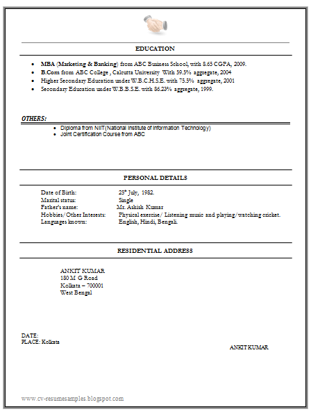 Marketing Finance Resume Sample Doc  Career