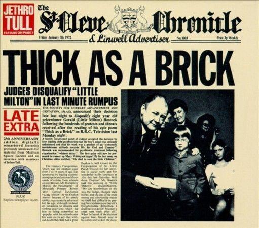 Thick as a Brick [Bonus Tracks] [Limited] [Remaster] by Jethro Tull (CD, Jun-199 #ProgressiveArtRock