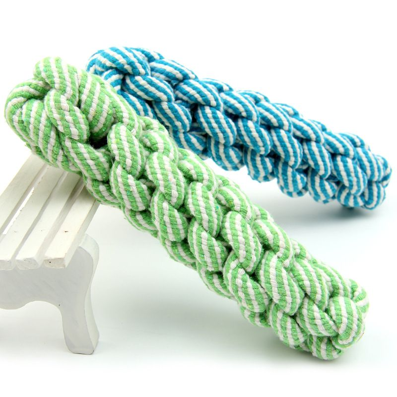 5*21 cm Pet Dog Puppy Chewing Teeth Bites Twisted Wire Rope Multi ...