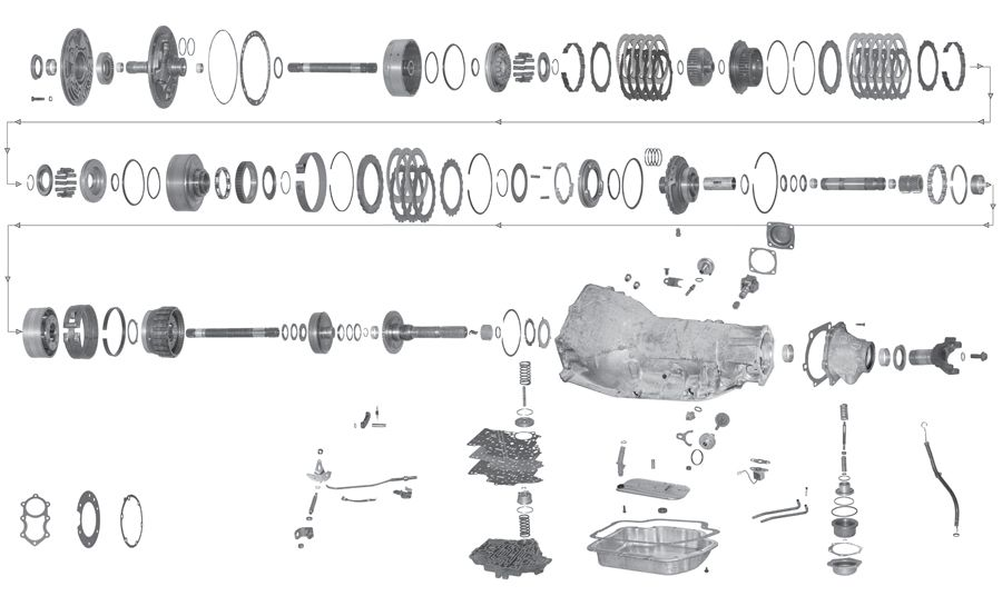 parts diagram for 4l80 e transmission