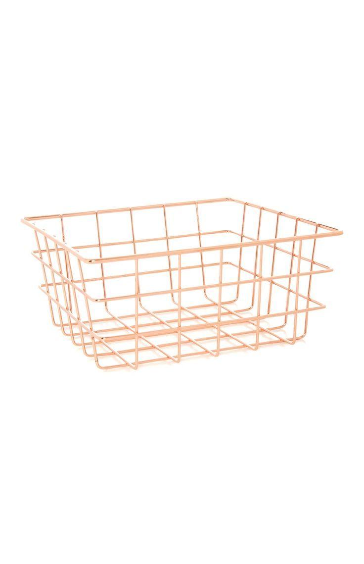 Primark Rose Gold Basket Shopping Basket Gold Primark Rose Shopping Rose Gold