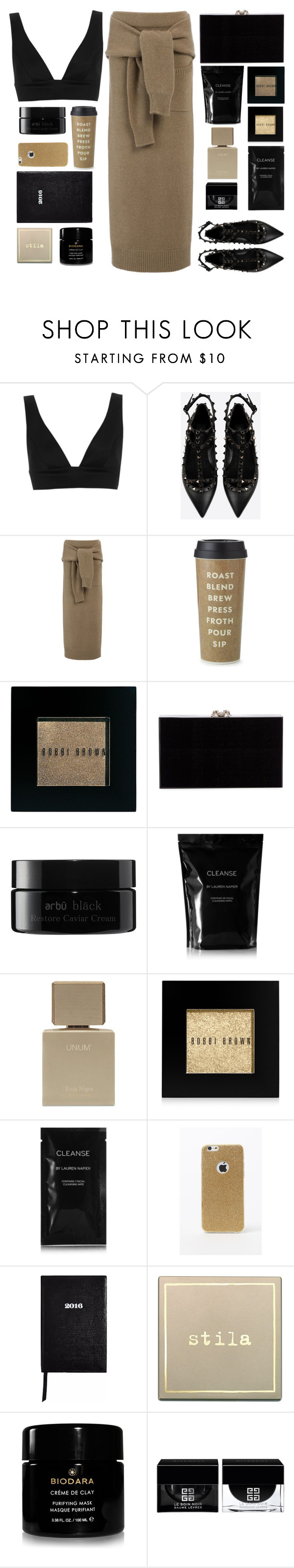 """""""Untitled #72"""" by dianakhuzatyan ❤ liked on Polyvore featuring Topshop, Valentino, Joseph, Kate Spade, Bobbi Brown Cosmetics, Charlotte Olympia, arbÅ«, Cleanse by Lauren Napier, LA: Hearts and Sloane Stationery"""