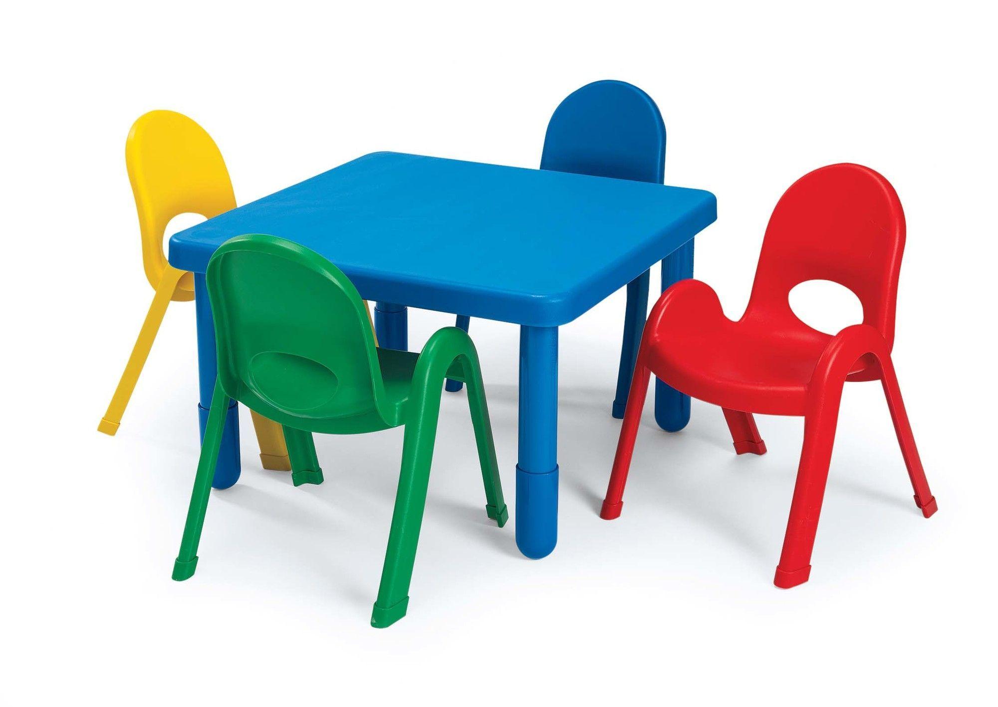 Myvalue Set Kids Square Play Activity Table And Chair Set High Table And Chairs Table And Chair Sets Kids Table And Chairs Preschool table and chairs set