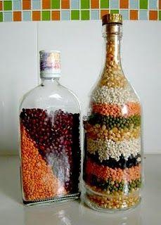 Meijo S Joy Simple Kitchen Decor Bean Arts Bottles Decoration Decor Simple Kitchen